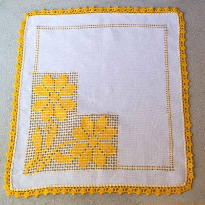 White and Yellow Napkin