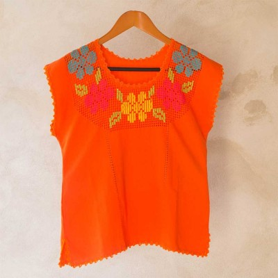Orange Blouse Size 34