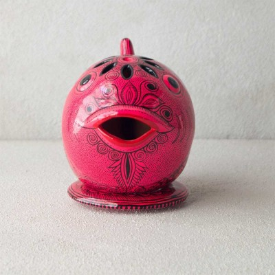 Pink Fish Ceramic Candle Holder