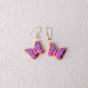 Lilac Butterfly Mud Earrings.
