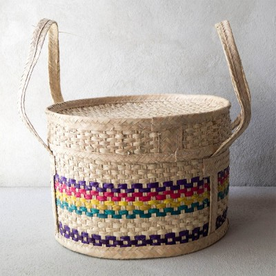 Large Woven Palm Basket